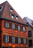 obernai дома alsace половинное timbered типичная Стоковое Изображение