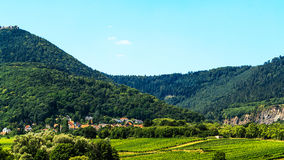 Obernai Alsace-green landscape with vineyards, France Stock Photo