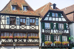 Obernai (Alsace) - Houses Royalty Free Stock Photo