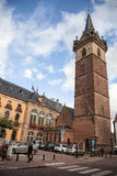 Obernai town center, Alsace, France Stock Image