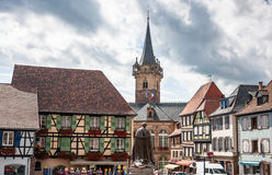 Obernai town center, Alsace, France Royalty Free Stock Photo