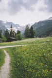 Obernberg AM Brenner με τα αυστριακά όρη στο υπόβαθρο Στοκ εικόνες με δικαίωμα ελεύθερης χρήσης