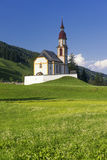 Obernberg am Brenner with austrian alps on background Royalty Free Stock Photography