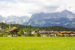 Oberndorf in Tirol, Oostenrijk royalty-vrije stock foto