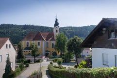 Obernzell-Kirche Lizenzfreies Stockbild