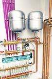 oberoende uppvärmningsystem royaltyfri fotografi