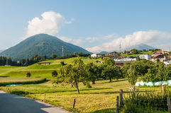 Oberperfuss village near Innsbruck, Austria. Royalty Free Stock Images