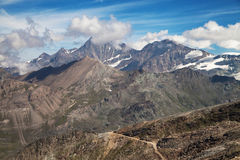 Oberrothorn, Dom, Taschhorn and Alphubel Royalty Free Stock Photos