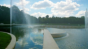 Oberschleissheim, Germany - Fountain of Schleissheim Palace park Royalty Free Stock Photography