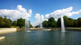 Oberschleissheim, Germany - Fountain at Schleissheim Palace park Royalty Free Stock Photography