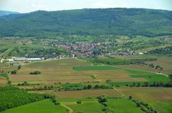 Oberschopfheim Ortenau, von der Luft Lizenzfreies Stockbild