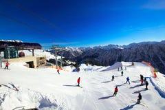 OBERSDORF, ALLEMAGNE - Ferbruary 23, 2015 : Vue à skier pentes et Images libres de droits