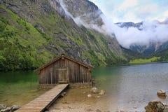 Obersee湖,巴伐利亚,德国 免版税图库摄影