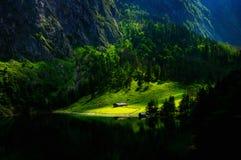 Obersee湖, Konigsee,德国 库存图片
