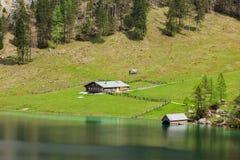 Obersee湖 巴伐利亚德国 免版税库存图片