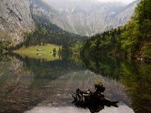 Obersee в баварских Альпах стоковое изображение