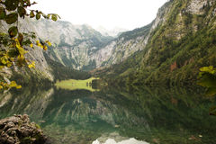 Obersee of koenigsee near berchtesgaden Stock Photos
