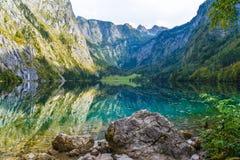 Obersee, Koenigssee, Konigsee, parc national de Berchtesgaden, Bavi?re, Allemagne images stock