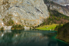 Obersee lake. Bavaria, Germany Stock Photos