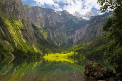Obersee Lake - Germany. Landscape surrounding the Obersee Lake in Germany, Berchtesgaden stock photo