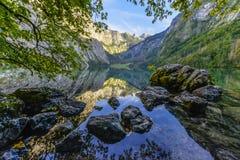 Obersee Landscape, Bavarian Scenery Stock Photo