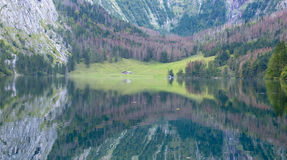 Obersee Landscape, Bavarian Scenery Royalty Free Stock Photos