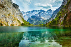 Obersee - mountain lake, Germany Royalty Free Stock Photo
