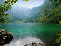 Obersee sjö, Berchtesgaden, Tyskland Arkivfoton