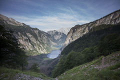 Obersee & Watzmann Royalty Free Stock Images