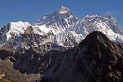 Oberseite der Welt Everest 8848 Stockbild