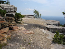 Oberseite des Berges Stockfotografie