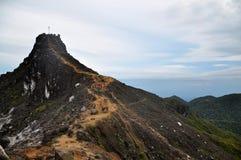 Oberseite des Berges Stockbild