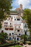 Oberseite des Dalt Landhauses Stockfotos