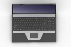 Oberseite des geöffneten schwarzen Laptops lizenzfreie abbildung