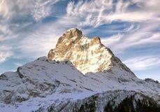 Oberseite des Kaukasus-Gebirgszugs. Lizenzfreie Stockfotografie