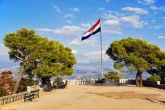 Oberseite des Marjan Hügels an der Spalte - Kroatien Stockfotos