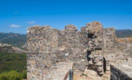 Oberseite des Schlosses von Jimenade-La Frontera Lizenzfreies Stockfoto