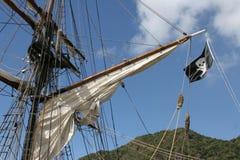 Oberseite des Segelboots Stockbilder