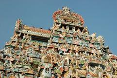Oberseite des Sri Ranganathaswamy Tempels (Srirangam) Stockfotografie
