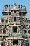 Oberseite des Srirangam Tempels in Tiruchirapalli Stockfotografie