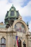 Oberseite des städtischen Hauses Stockbild