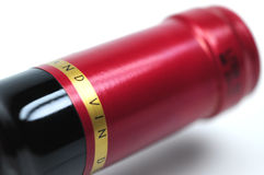 Oberseite einer Flasche Weins Lizenzfreie Stockfotos