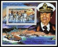 Oberst Muammar Gaddafi lizenzfreie stockbilder