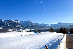Oberstdorf bavarian alps Royalty Free Stock Image