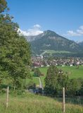Oberstdorf, Baviera, Germania Fotografia Stock