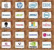 Oberste berühmte Marken des Computers (PC) Lizenzfreie Stockfotos