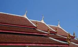 Oberste einfache Art der klösterlichen Dächer Stockfotografie