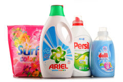 Oberste globale waschende reinigende Marken Stockfoto