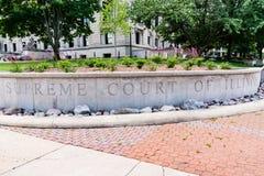 Oberstes Gericht von Illinois stockbild