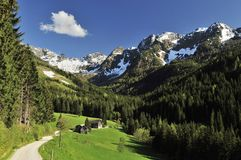 Obertal in Schladminger Tauern Royalty Free Stock Image